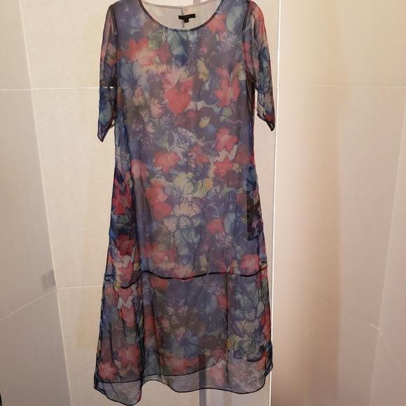 floryday Dresses & Skirts - Floryday multi color floral print dress sz S